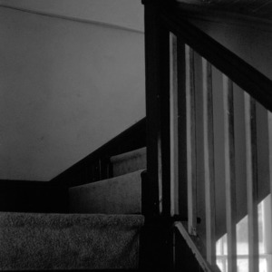 Interior stairs, Zion (Organ) Lutheran Church, Rowan County, North Carolina