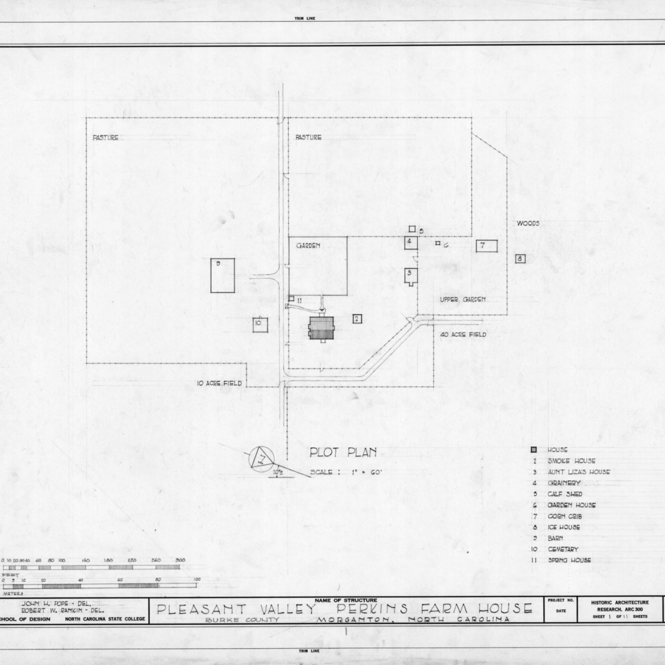 Site plan, Pleasant Valley, Morganton, North Carolina