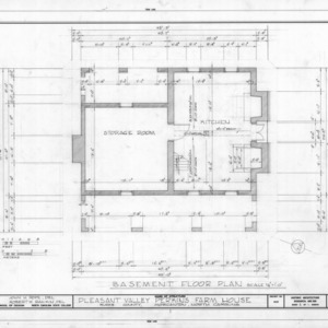 Basement plan, Pleasant Valley, Morganton, North Carolina