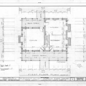 First floor plan, Pleasant Valley, Morganton, North Carolina
