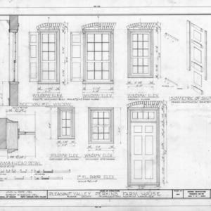Window and door details, Pleasant Valley, Morganton, North Carolina