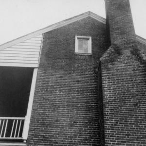 Side view with chimney, Pleasant Valley, Morganton, North Carolina