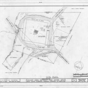 Site plan, Pleasant Grove Camp Meeting Ground, Union County, North Carolina