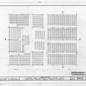 Floor plan, Pleasant Grove Camp Meeting Ground, Union County, North Carolina