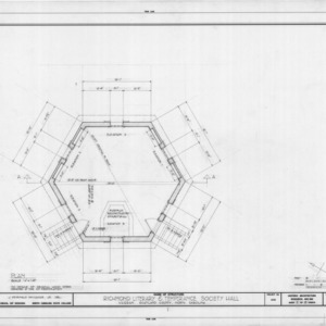 Floor plan, Richmond Temperance and Literary Society Hall, Scotland County, North Carolina