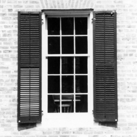 Window, Richmond Temperance and Literary Society Hall, Scotland County, North Carolina