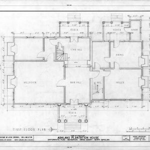 First floor plan, Ashland, Vance County, North Carolina