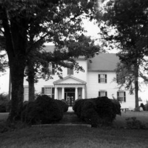 Front view, Ashland, Vance County, North Carolina