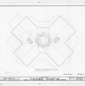 Roof and cupola plan, Cooleemee Plantation, Davie County, North Carolina