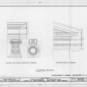Exterior details, Cooleemee Plantation, Davie County, North Carolina