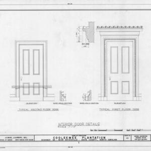 Interior door details, Cooleemee Plantation, Davie County, North Carolina