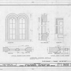 Interior window details, Cooleemee Plantation, Davie County, North Carolina