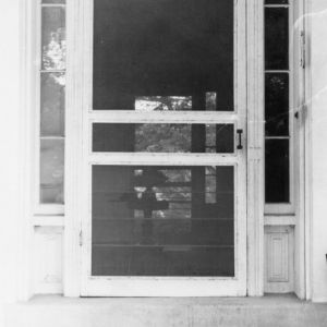 Door detail, Cooleemee Plantation, Davie County, North Carolina