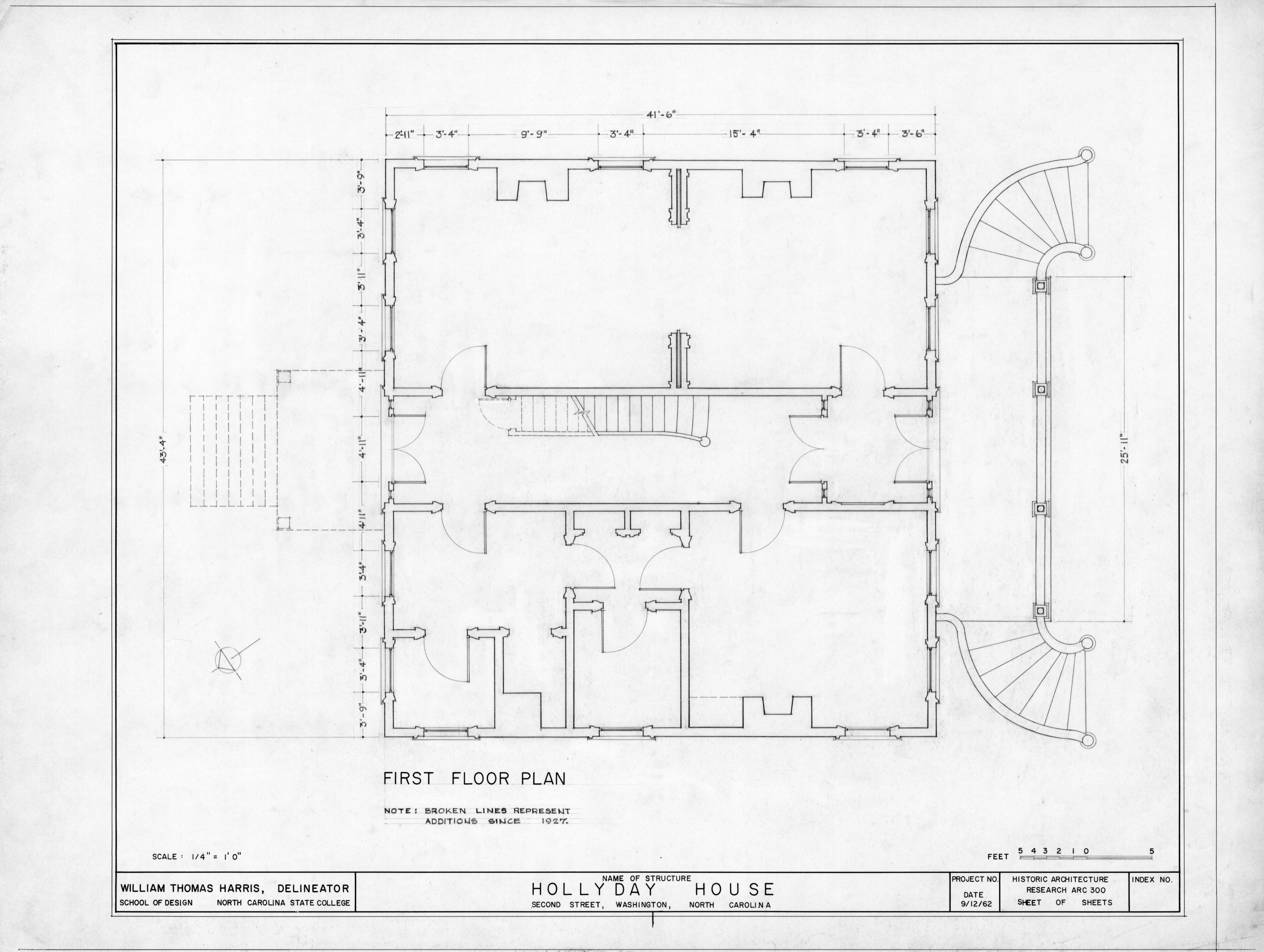 First Floor Plan Hollyday House Washington North