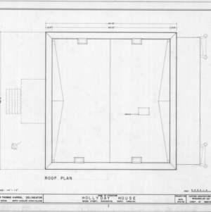 Roof plan, Hollyday House, Washington, North Carolina