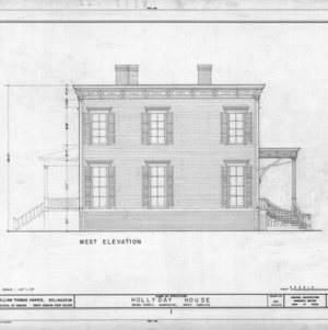 West elevation, Hollyday House, Washington, North Carolina