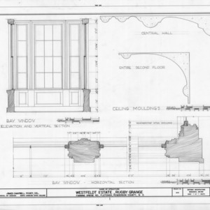 Window and ceiling details, Rugby Grange, Henderson County, North Carolina
