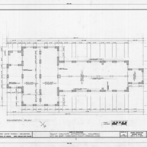 Foundation plan, St. David's Episcopal Church, Washington County, North Carolina