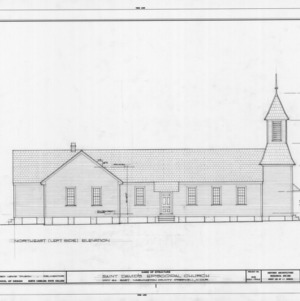 Northeast elevation, St. David's Episcopal Church, Washington County, North Carolina