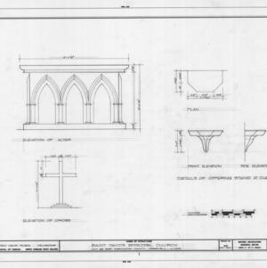 Details, St. David's Episcopal Church, Washington County, North Carolina