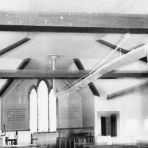Interior view, St. David's Episcopal Church, Washington County, North Carolina