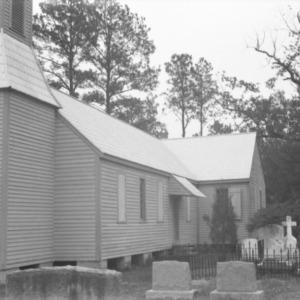 View with cemetery, St. David's Episcopal Church, Washington County, North Carolina
