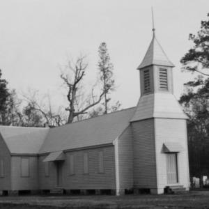 View with cemetery, St. David's Episcopal Church, Washington County, North Carolina