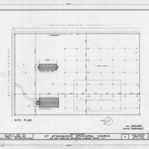 Site plan, St. Athanasius Episcopal Church, Burlington, North Carolina