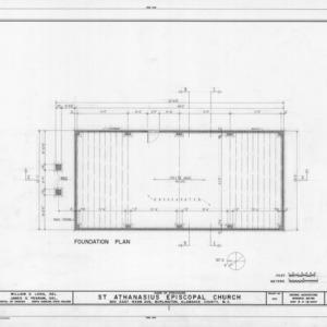 Foundation plan, St. Athanasius Episcopal Church, Burlington, North Carolina