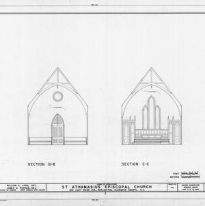 Cross sections, St. Athanasius Episcopal Church, Burlington, North Carolina