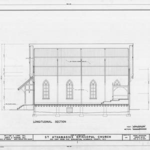 Longitudinal section, St. Athanasius Episcopal Church, Burlington, North Carolina
