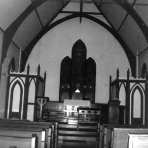 Interior view, St. Athanasius Episcopal Church, Burlington, North Carolina