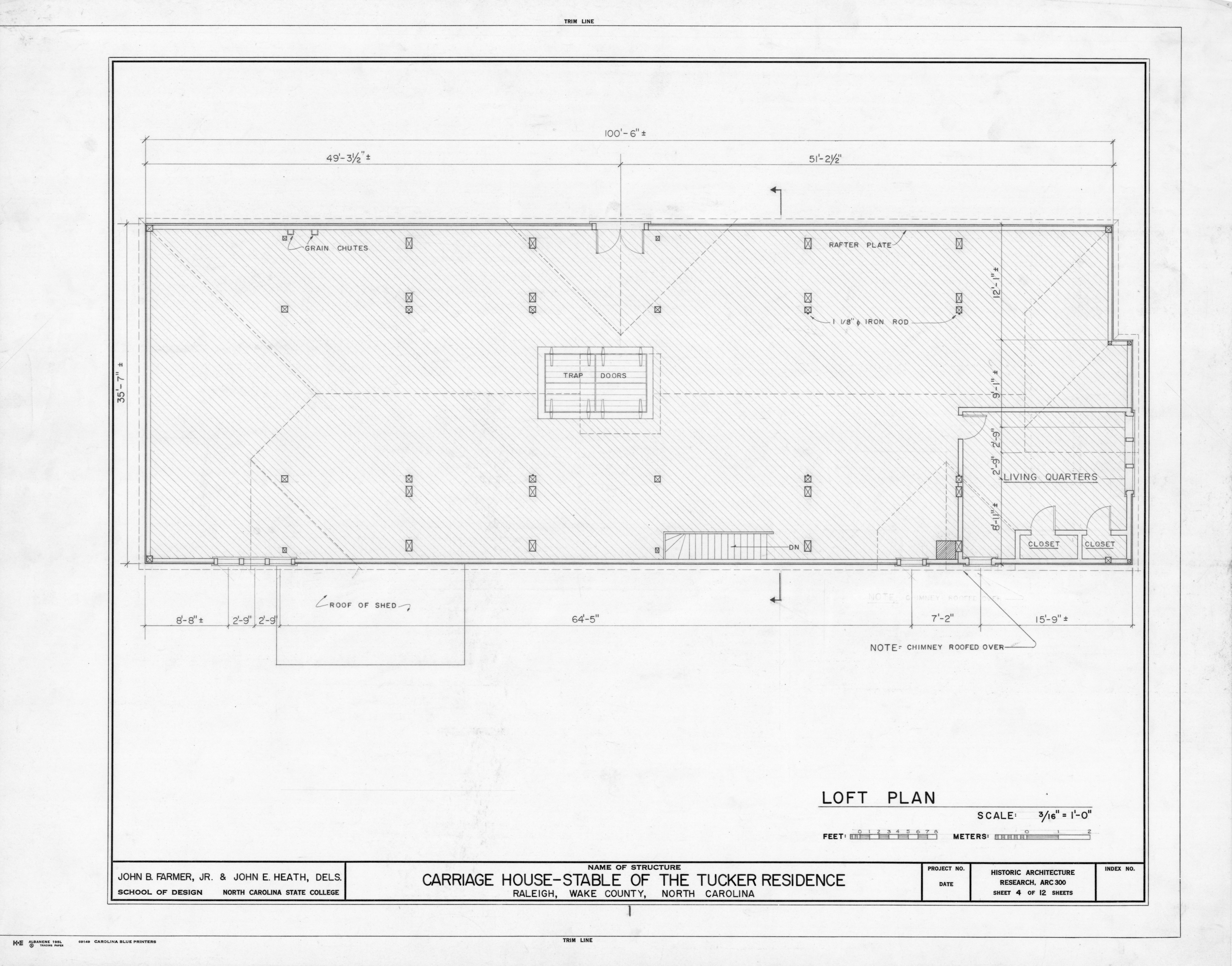 Loft plan tucker carriage house raleigh north carolina for Carriage house plans with loft