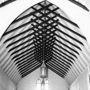Interior roof detail, St. Paul's Episcopal Church, Wilkesboro, North Carolina