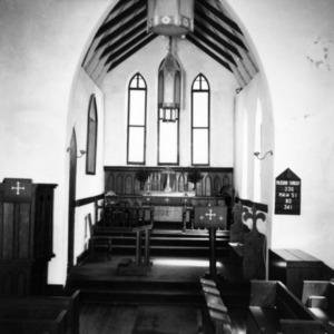 Interior view, St. Paul's Episcopal Church, Wilkesboro, North Carolina