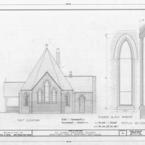 East elevation and window details, St. Agnes Episcopal Church, Franklin, North Carolina
