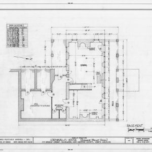 Basement plan, Burgwin-Wright House, Wilmington, North Carolina