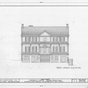 North elevation, Burgwin-Wright House, Wilmington, North Carolina