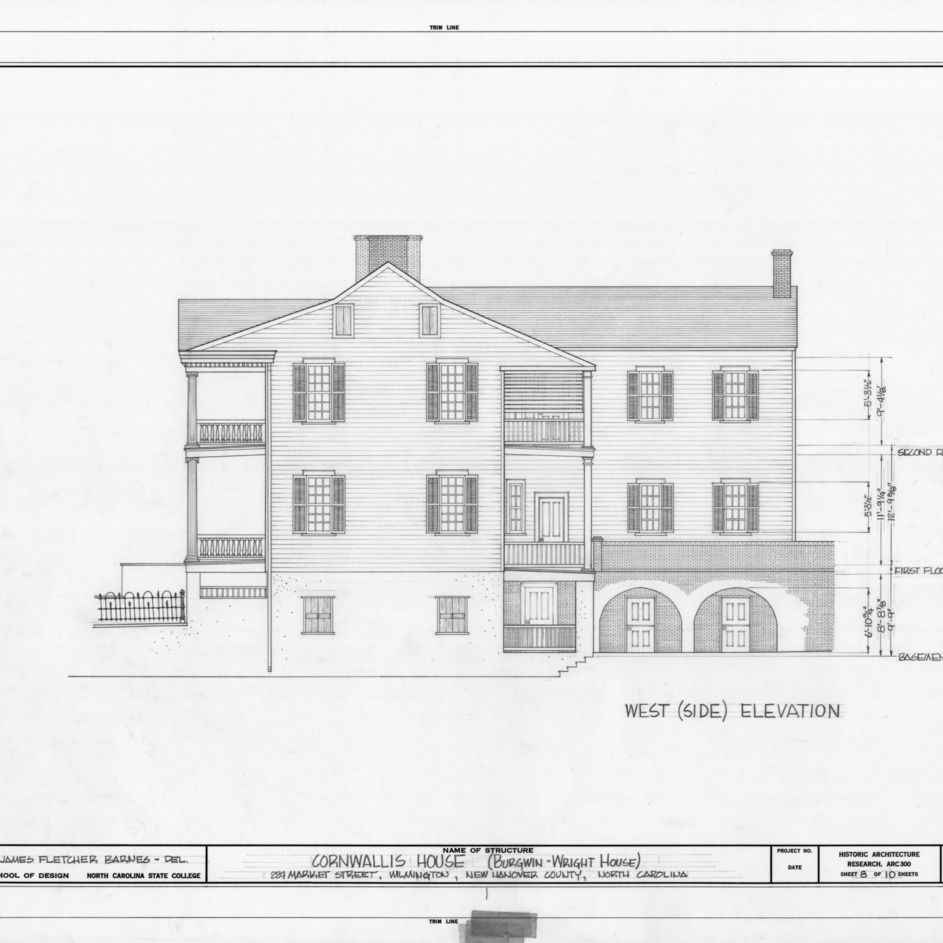 West elevation, Burgwin-Wright House, Wilmington, North Carolina