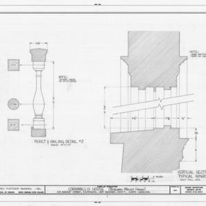 Railing and window details, Burgwin-Wright House, Wilmington, North Carolina