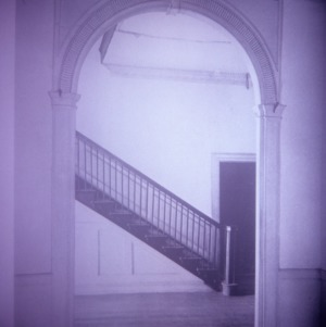 Interior view with arch and stairs, Little Manor, Littleton, Halifax County, North Carolina