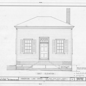 East elevation, Archibald Henderson Law Office, Salisbury, North Carolina