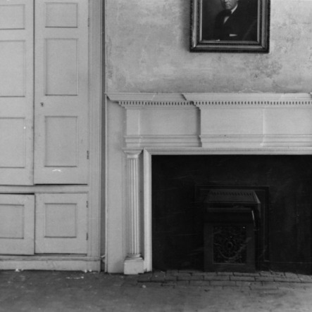 Interior view with fireplace, Archibald Henderson Law Office, Salisbury, North Carolina