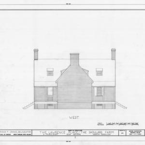 West elevation, Duke-Lawrence House, Northampton County, North Carolina