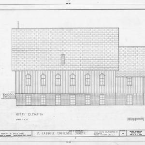 North elevation, St. Ambrose Episcopal Church, Raleigh, North Carolina