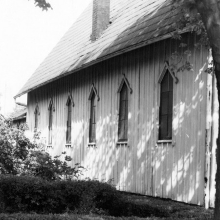 Side view, St. Ambrose Episcopal Church, Raleigh, North Carolina