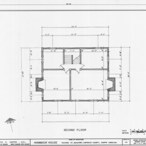Second floor plan, Hammock House, Beaufort, North Carolina