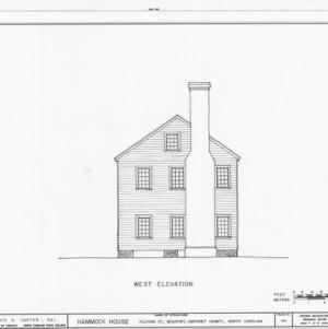 Side elevation, Hammock House, Beaufort, North Carolina