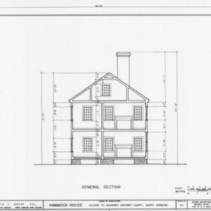 Cross section, Hammock House, Beaufort, North Carolina