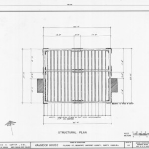 Structural plan, Hammock House, Beaufort, North Carolina